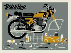 Black Keys poster by Methane