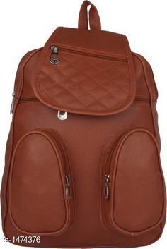 Bags & Backpacks Elegance PU Unisex Backpack Material: PU Size: Free Size Number Of Compartments: 5 Description : It Has 1 Piece Of Unisex Backpack Pattern: Solid Country of Origin: India Sizes Available: Free Size   Catalog Rating: ★4.1 (445)  Catalog Name: Myhra Elegance PU Unisex Backpacks CatalogID_191414 C65-SC1234 Code: 803-1474376-855