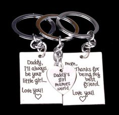 The Daughter's Message KeyChain 3pcs/set by GifthyClub on Etsy