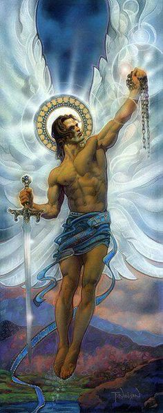 """Archangel Michael prayer, """"I call on you, dear Michael to protect me through all I do, empowering me with courage and the strength to see me through.""""☀"""