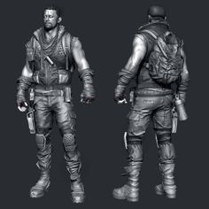 Hey This is fan art based on the defiance concept. Had blast working on this. Looking forward to see what you guys think. Zbrush Character, 3d Character, Character Design, Drawing Male Anatomy, Guy Drawing, Digital Sculpting, Fiction Stories, Army Soldier, Art Base