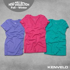 New KENVELO collection brings you a new serie of monochrome t-shirts in different colors. Your choise is _______?