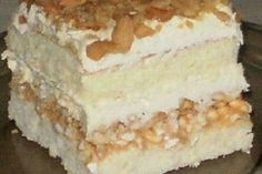 Peach Yogurt Cake, Polish Desserts, Dessert Cake Recipes, Angel Cake, Food Cakes, Something Sweet, Cheesecake, Deserts, Food And Drink
