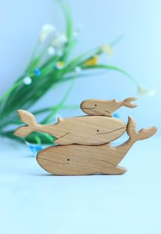 Natural T - Wood Carving Designs Wooden Animal Toys, Wood Animal, Wood Toys, Wooden Projects, Wooden Crafts, Photo Merci, Handmade Wooden Toys, Etsy Handmade, Wood Carving Designs