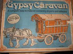 VINTAGE BOXED GYPSY CARAVAN MODEL KIT