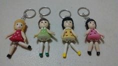 Cold porcelain keychain doll...by: Miriam Rivera