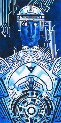 """""""Tron in Silicon"""" By Tim Rogerson - Limited Edition Giclée on Canvas"""