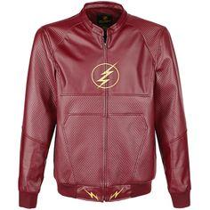 Lightning Bolt - Imitation Leather Jacket by The Flash