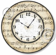 Item C2005 Vintage Style 10.5 Inch Musical Notes Clock by Fairy Freckles Studios, http://www.amazon.com/dp/B0042P3XCQ/ref=cm_sw_r_pi_dp_qsGEqb1HZ8GQ5