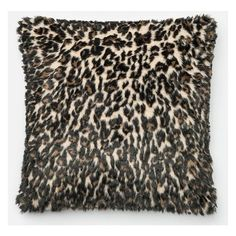"""Leopard Faux Fur 22"""" Pillow ($60) ❤ liked on Polyvore featuring home, home decor, throw pillows, home decorators collection, faux fur throw pillow, leopard home accessories, leopard home decor and leopard throw pillow"""