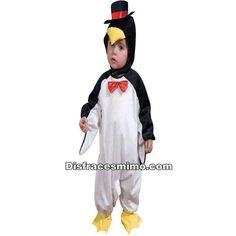 DisfracesMimo, disfraz pinguino polar 1 a 2 años para niños y niñas,es ideal para convertir a los pequeños de la familia con este disfraz de pinguino 1 a 2 años,en este simpático animalito del artico.Este disfraz es ideal para tus fiestas temáticas de disfraces de animales infantiles.