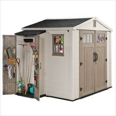 Walmart, Keter 8 x 6 with Side Cabinet $1,126  bikes?