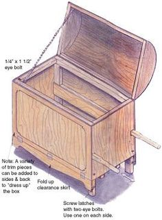 This design for a handmade fireplace woodbox wheelbarrow, includes step-by-step instructions and detailed building diagrams. From MOTHER EARTH NEWS magazine.