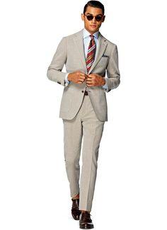 Suit Light Brown Plain Havana P4245i   Suitsupply Online Store