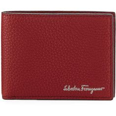 8623046ae581 Salvatore Ferragamo Firenze Leather Bi-Fold Wallet ( 360) ❤ liked on  Polyvore featuring