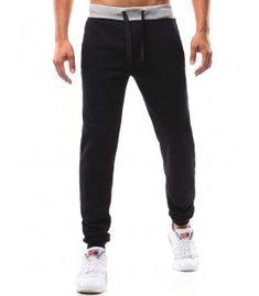 Čierne pánske teplákové nohavice Sweatpants, Fashion, Moda, Sweat Pants, Fasion, Training Pants