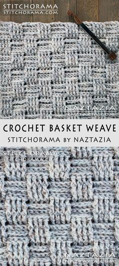 Crochet Basket Weave - Stitchorama by Naztazia Free Pattern & DIY Tutorial YouTube Video by Donna Wolfe
