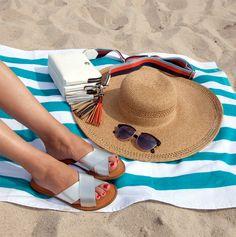 Saltwata Slide Sandals   Summer Fashion   Floppy Hat   Beach Attire   Nine West