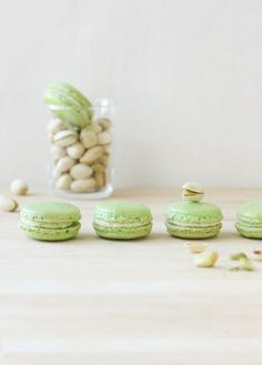 Pistachio French Macarons - learn how to make macarons at home with a fun and easy-to-follow video class! FoodNouveau.com   Full recipe