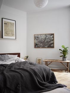 Charming bedroom in neutral & warm colours