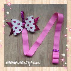 Hair bow holder Pink hair bow holder Hair by LittlePrettiesByEmma