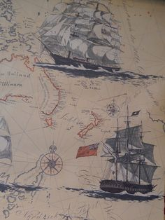 Nautical Map Wallpaper