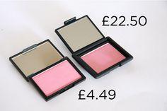 Sleek Blush in Rose Gold vs Nars Orgasm Blush | 14 Insanely Affordable High Street Dupes For High-End Makeup
