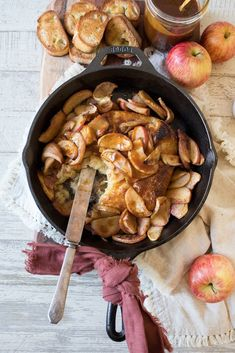 Salted caramel apple baked brie is the ULTIMATE fall appetizer of puff pastry wrapped brie cheese baked and topped with roasted apples and caramel sauce. Baked Camembert, Baked Brie, Apple Recipes, Fall Recipes, Savoury Recipes, Easy Baked Apples, Fall Appetizers, Cheese Appetizers, Roasted Apples