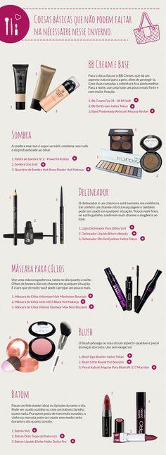 Maquiagem básica para o inverno: Coisas que não podem faltar na nécessaire – Roberta Peixoto Blog Roberta Peixoto