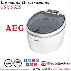 ¡ Ideal para limpiar joyas, monedas, gafas,etc..! Limpiador Ultrasonidos AEG USR 5659 http://www.electroactiva.com/aeg-limpiador-por-ultrasonidos-usr-5659.html #Elmejorprecio #Ultrasonidos #Electrodomesticos #PymesUnidas
