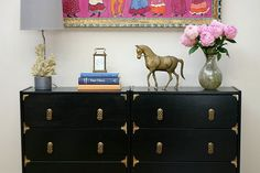 The link has several ways to give some personality to a basic chest of drawers. If you don't have an IKEA furniture store near you just look for a similar chest at a thrift shop. I really lik…