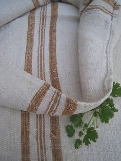 Vintage grain sack in brown