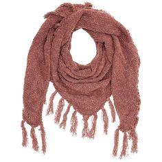 Charlotte Russe Pink Fringe Triangle Wrap Scarf by Charlotte Russe at... ($17) ❤ liked on Polyvore featuring accessories, scarves, pink, knit shawl, chunky knit shawl, wrap shawl, pink shawl and charlotte russe scarves