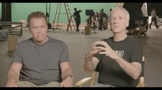 """Less Meat, Less Heat: Behind the Scenes with James Cameron & Arnold Schwarzenegger: Schwarzenegger's doctors began telling him, """" 'Arnold you have to get off meat,' """" he says, so he's been """"slowly getting off meat, and I tell you that I feel fantastic."""" #vegan #vegetarian"""