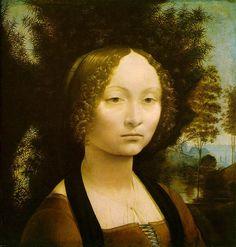 Leonardo da Vinci - 1474 - Portrait de Ginevra de'Benci - NGA Washington