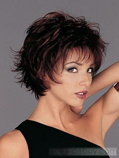 Plus Size Short Hairstyles for Women Over 50 | Capless Super Sexy Short Wavy 10 Inches Synthetic Hair Wig : Tidebuy ...