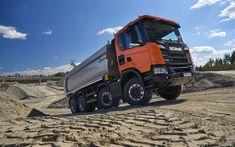 Download wallpapers Scania G450 XT, 4k, 2017 truck, 8x4, tipper, trucks, Scania