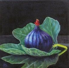 """Daily Paintworks - """"Figs III - 1001 Nights"""" - Original Fine Art for Sale - © Pera Schillings"""