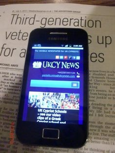 """The Mobile Newspaper for UK Cypriots. Wherever you go your """"mobile newspaper"""" will follow you in your pocket and will be much easier to handle. http://ukcynews.com/about-us/the-mobile-newspaper-for-uk-cypriots/"""