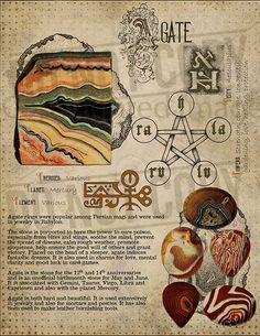 Agate, Book of Shadows printable page. Wiccan Spells, Magick, Witchcraft, Crystal Magic, Crystal Healing Stones, Alchemy, Crystals And Gemstones, Stones And Crystals, Runas Futhark