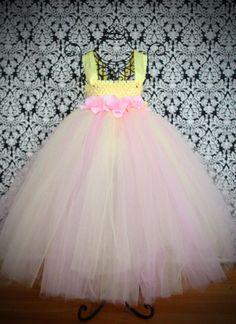 Pink Lemonade Tutu Dress Springtime Collection by FrostingShop, $65.00