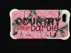 Country Girl Barbie iPhone 5 Pink Camo Country Barbie Red Neck Girl Fashion Rubber Dual Layer Protection White & Black Rubber Anti Shock