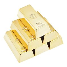 Creative Gold Bullion Shaped Magnetic Holder Paper Weight (6-Pack) – GBP £ 11.43