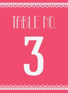Aztec Allure Table Numbers - Hoopla House