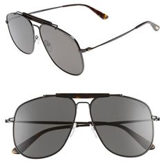 417aa5fc Women's Tom Ford Connor 58Mm Aviator Sunglasses (5.612.460 IDR) ❤ liked on  Polyvore featuring accessories, eyewear, sunglasses, vintage eyewear, tom  ford, ...