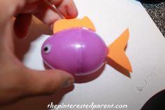 Plastic Easter Egg Floating Fish | The Pinterested Parent