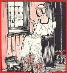 """""""Sneeuwwitje"""" (Snow White) by Illustrator Rie Cramer (1887-1977), 1925, de Haan, Utrecht. (1/8) iL #SnowWhite #FairyTale"""