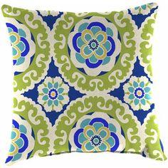 """Jordan Manufacturing Outdoor 16"""" Toss Pillows, Halina Wasabi, 2-Pack {$30}"""