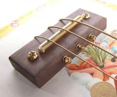 All-In-One 4-String Cigar Box Guitar Bridge/Pickup/Tailpiece by Ted Crocker