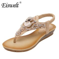 1c18f2720ce1e Eiswelt Summer 2017 Large Base Platform Sandals Women High Diamond Leisure  Wedges With Low Peep-toe Shoes